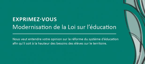Modernisation de la Loi sur l'éducation